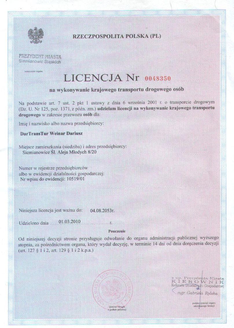 Licencja Krajowa